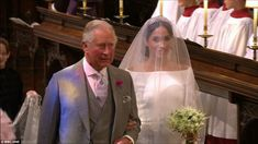 Harry said 'thank you, pa' after his father Prince Charles walked her down the aisle of St...