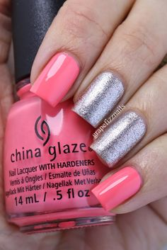 China Glaze Petal to the Metal and Sinful Colors Charmed