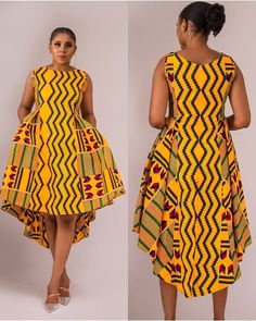 Onyi African tie dye adire dress African hi low dress african kaftan dress African batik dress African fashion African clothing Ankara Short African Dresses, Latest African Fashion Dresses, African Print Dresses, African Print Fashion, Modern African Fashion, African Dress Styles, Latest Fashion, Ankara Fashion, Ankara Styles For Women