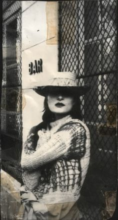 Siouxsie, her sweater, her lipstick and her hat