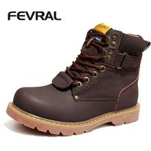 US $43.14 FEVRAL Brand Men Winter Snow Boots Genuine Leather Boots Comfortable With Fur Plus Size Shoes High Quality Anti Slip Work Shoes. Aliexpress product
