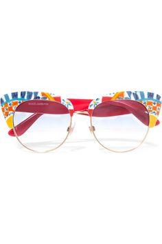 42e0c9f0004 Printed Acetate Sunglasses - Red. Red Cat Eye GlassesCat ...