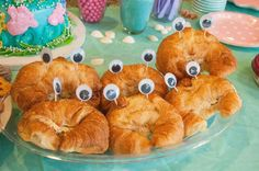 Crab sandwiches for a mermaid or under the sea themed party. These could work for Octonauts party Little Mermaid Birthday, Little Mermaid Parties, The Little Mermaid, First Birthday Parties, First Birthdays, 4th Birthday, Birthday Ideas, Mermaid Birthday Party Ideas, Mermaid Party Food