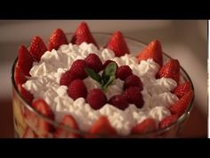 Kelly's Red Berry Trifle No Bake Dessert Recipe || ......I would use artificial rum flavoring......