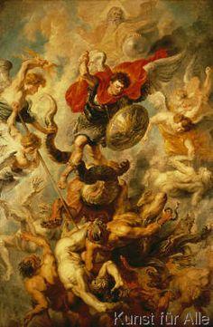 Peter Paul Rubens - Engelsturz (56,0 x 86,0 cm)