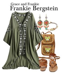 Grace and Frankie by sparkle1277 on Polyvore featuring polyvore, fashion, style, Breckelle's, WithChic, Gas Bijoux and clothing