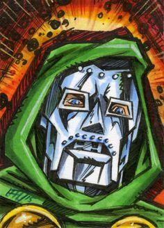 Doctor Doom from Marvel Comics sketchcard