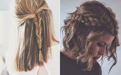 penteados rapidos e faceis para cabelos medios - Pesquisa Google