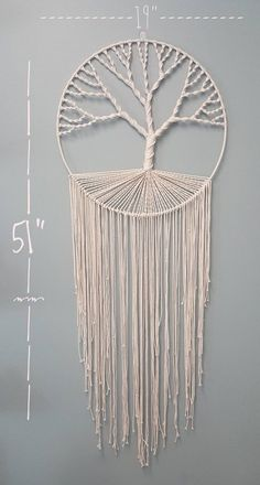 Macrame Tree of Life Wall Hanging Makramee Baum des Lebens Wandbehang Macrame Design, Macrame Art, Macrame Projects, Etsy Macrame, Macrame Mirror, Macrame Curtain, Diy Projects, Macrame Wall Hanging Patterns, Macrame Patterns