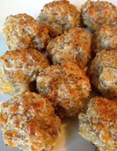 Cream Cheese Sausage Balls  I used Johnsonville breakfast sausage patties for the recipe. Serve with melted hot pepper jelly for dipping. Served for Christmas . Everyone loved it. Enjoy. Gloria