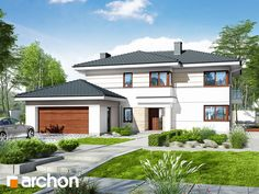 Projekt domu Willa Oliwia 3 (G2) - ARCHON+ Future House, My House, Modern House Plans, Home Fashion, Outdoor Living, How To Plan, Mansions, House Styles, Home Decor