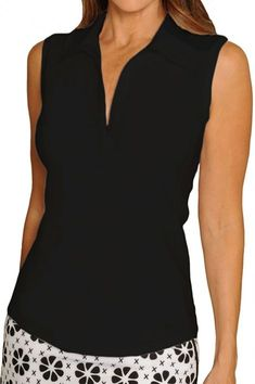If you're in the market for some new outfits, consider our women's apparel! Shop this comfortable and stylish Black Golftini Ladies Classic Sleeveless Golf Polo Shirt from Lori's Golf Shoppe.