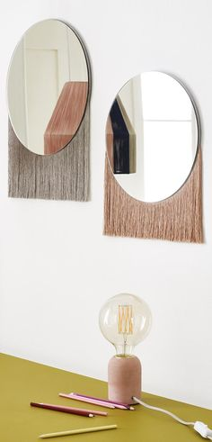 Meaning 'Tassel' in Italian, the Nappa Small Fringed Mirror features free-flowing fringing for a unique look.