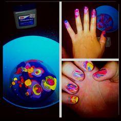 DIY --tye dye nails