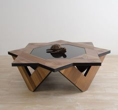 If in your house dominates furniture with straight edges without a lot of details this coffee table will certainly break the monotony and bring freshness in room. Coffee Table With Seating, Unique Coffee Table, Coffe Table, Modern Coffee Tables, Creative Coffee, Centre Table Design, Tea Table Design, Wood Table Design, Home Decor Furniture