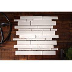 Premium Series Random Sized Glass Mosaic Tile in White
