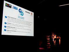 Giorgio Gandolfi e la slide della Giorgio Gandolfi - Sport Marketing, Eventi e Comunicazione