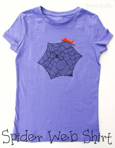 Spider Web Halloween Shirt for Kids made with spider web lace!