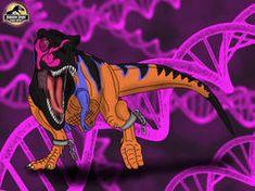Omega T. rex (Jurassic Park: Chaos Effect) by TrefRex on DeviantArt T Rex Jurassic Park, Jurassic Park Poster, Jurassic World Dinosaurs, Jurassic Park World, Pug, Tous Les Pokemon, Lion King Fan Art, Dinosaur Fossils, Tyrannosaurus Rex