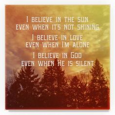 "Trademark Art Vintage Skies 'I Believe Main' Graphic Art Print on Wrapped Canvas Size: 35"" H x 35"" W"
