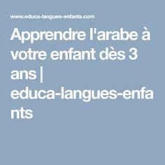 Apprendre l'arabe à votre enfant dès 3 ans | educa-langues-enfants