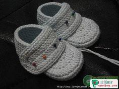 Tığ işi bebek patik yapımı erkek bebekler için http://www.canimanne.com/tig-isi-bebek-patik-yapimi-erkek-bebekler-icin.html 75447677 71 Tığ işi bebek patik yapımı