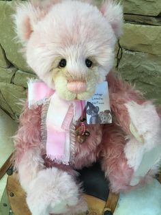 Gladrags Charlie Bears Isabelle Lee Collection Mohair Bear