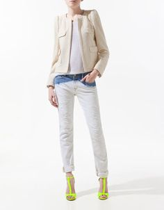 To go with everything. FANTASY FABRIC BLAZER - Blazers - Woman - ZARA United States