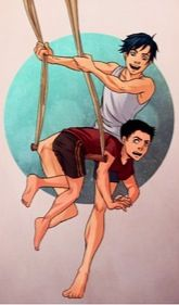 Damian's an assassin not an acrobat<< Richard John Grayson get it right!!