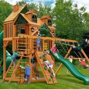 Gorilla Playsets Malibu Deluxe I Swing Set w/ Amber Posts 01-0047-AP