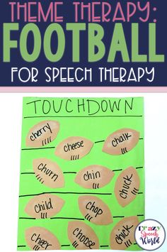 Football theme for speech and language therapy