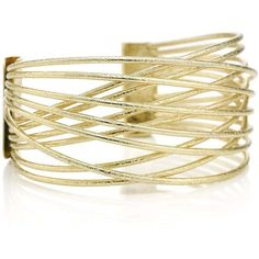 Mood Gold cross over cuff bracelet ($7.40) ❤ liked on Polyvore featuring jewelry, bracelets, gold jewellery, gold cuff bangle bracelet, tribal jewelry, yellow gold bangle and gold bangles