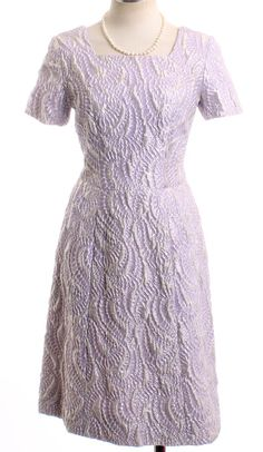 Vintage 1960's Nolan Miller Lavendar and Silver by LondonCouture, $150.00
