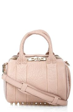 Alexander Wang 'Mini Rockie - Pale Gold' Leather Crossbody Satchel available at #Nordstrom