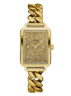 Gold-Tone Chain Link Watch | GUESS
