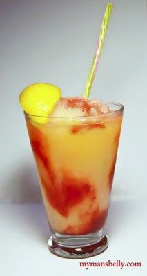 an alcoholic frozen strawberry lemonade. so i guess i need to go buy an ice cream maker now??