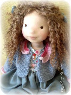 """Lisa poupée waldorf 50 cms, 20"""", poupée art fibres naturelles de la boutique…"""