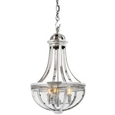 Eichholtz Capitol Hill Lantern Pendant Light Small ($1,660) ❤ liked on Polyvore featuring home, lighting, ceiling lights, silver, light bulb lights, hanging chain lamps, light bulb lamp, net lights and chain lamp