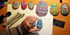 Taş üzerine baykuş nasıl yapılır? Baykuş yapımı için hangi boyalar kullanılır? Taş boyama sanatı baykuş yapımı için tıklayın...