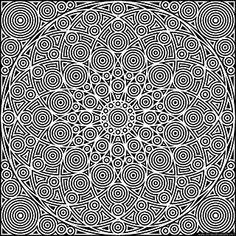 Circles coloring page in jpg and transparent png formats #mandala #coloring #PiDay