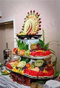 Blooming food art fruit buffet - inspiration!