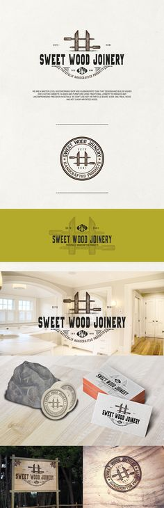 Branding for a Wood Working Shop - Sweet Wood Joinery #branding #design #logodesign #logo #sweet #wood #joinery #woodworking #brand