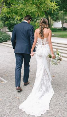 Modern corset back on this wedding gown. Napa Valley, Illusion, Corset, Wedding Gowns, Wedding Ideas, Weddings, Lace, Modern, How To Wear