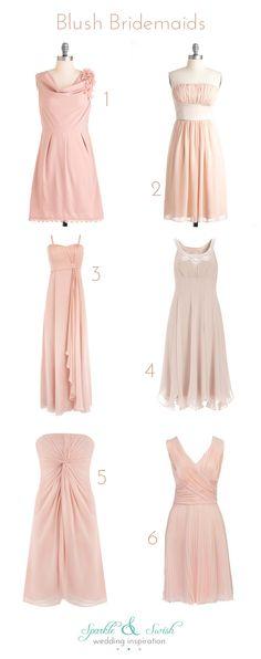 Blush bridesmaid dress suggestions :)