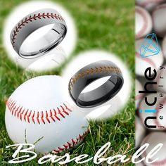 Cobalt Chrome & Zirconium 8mm Domed Band. Contact for pricing. #utahwedding #utahweddings #utah #utahisrad #utahvalleybride #custommaderings #customjewelry #engagement #engagementrings #engagementring #engagements #madeinusa #baseball #sport #homerun