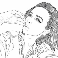art, beauté, noir et blanc, couple, dessin, sourcils, crayon à paupières, yeux, grunge, cheveux, instagram, lèvres, amour, luxe, maquillage, ongles, équipement, Tumblr
