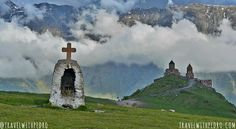Travelling on the Georgian Military Highway is a highlight to any trip to Georgia. This scenic route links Tbilisi to Kazbegi, then Vladikavkaz in Russia, Armenia, Georgian, Highlight, Travelling, Places To Go, Russia, Military, Mountains, Hair Streaks