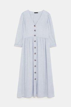 Image 9 of BUTTONED DRESS from Zara Zara, Short Sleeve Dresses, Dresses With Sleeves, Button Dress, Must Haves, Shirt Dress, Boho, Shirts, Image