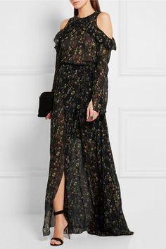 Preen by Thornton Bregazzi | Merrick floral-print silk-georgette wrap skirt | NET-A-PORTER.COM