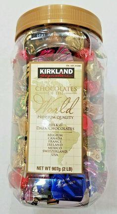 Kirkland Signature Chocolates of the World Premium Milk & Dark Chocolate 2 Pound #Kirkland
